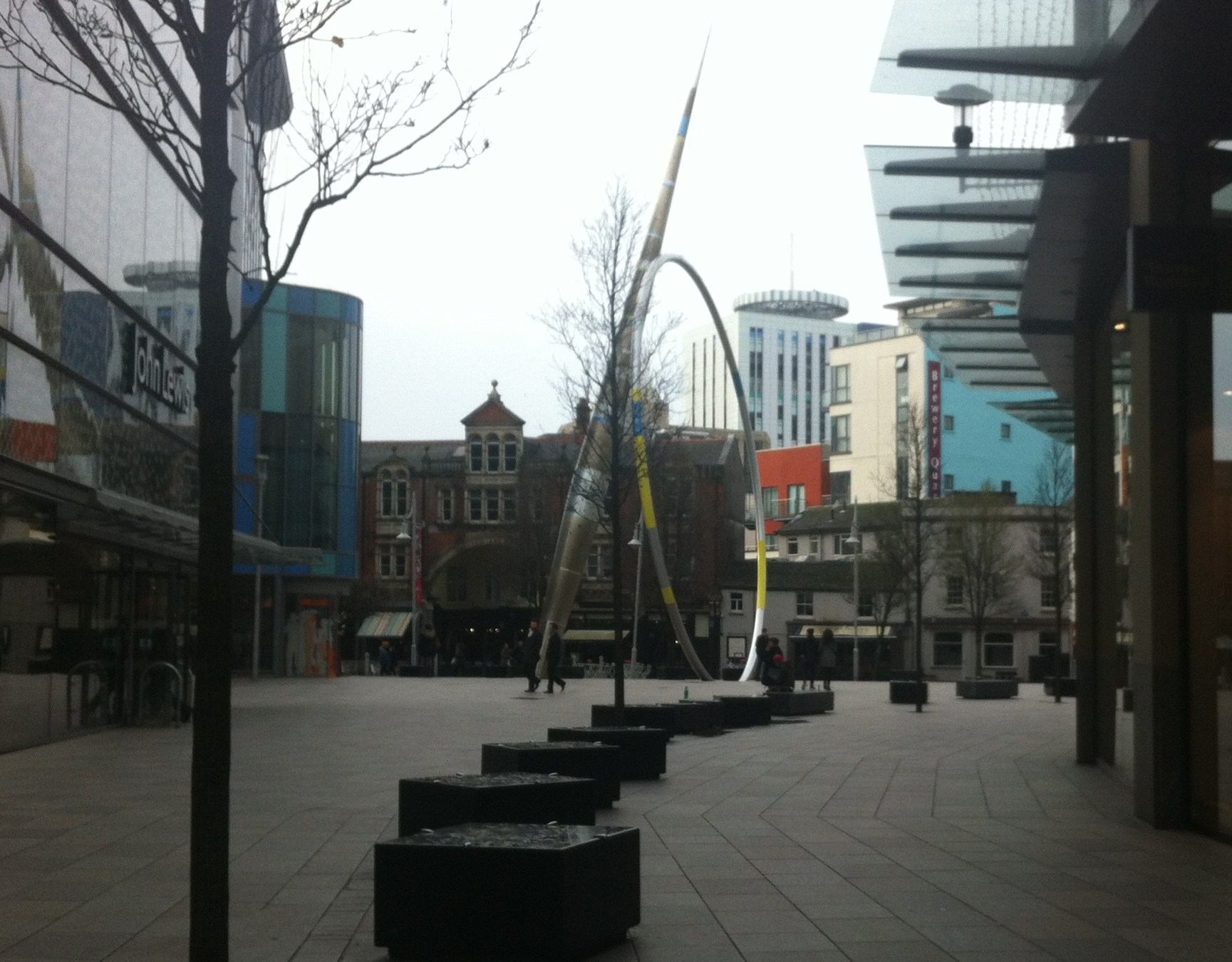 Iconic structure outside Cardiff Library